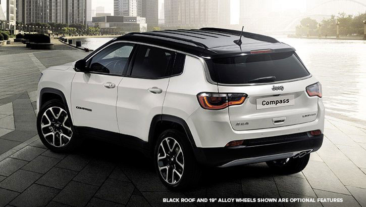 Brand New Jeep Compass Crossover –Back View