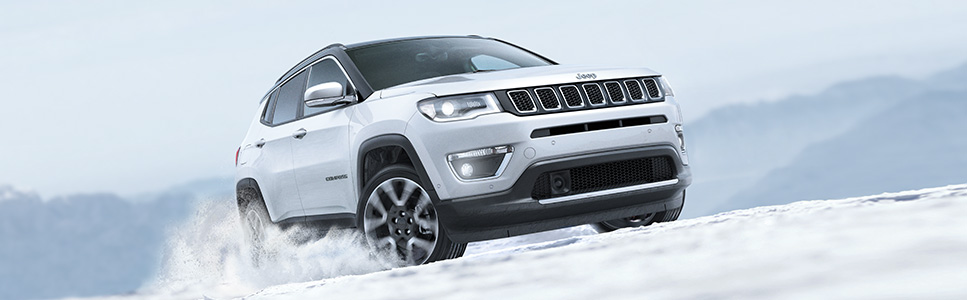 Brand New Jeep Compass 4x4 Driving on Snow