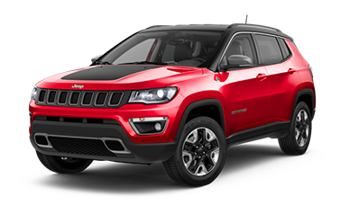 Red Jeep Compass Trailhawk SUV